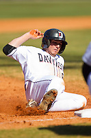 Danny Weiss #8 of the Davidson Wildcats slides into third base against the College of Charleston Cougars at Wilson Field on March 12, 2011 in Davidson, North Carolina.  The Wildcats defeated the Cougars 8-3.  Photo by Brian Westerholt / Four Seam Images