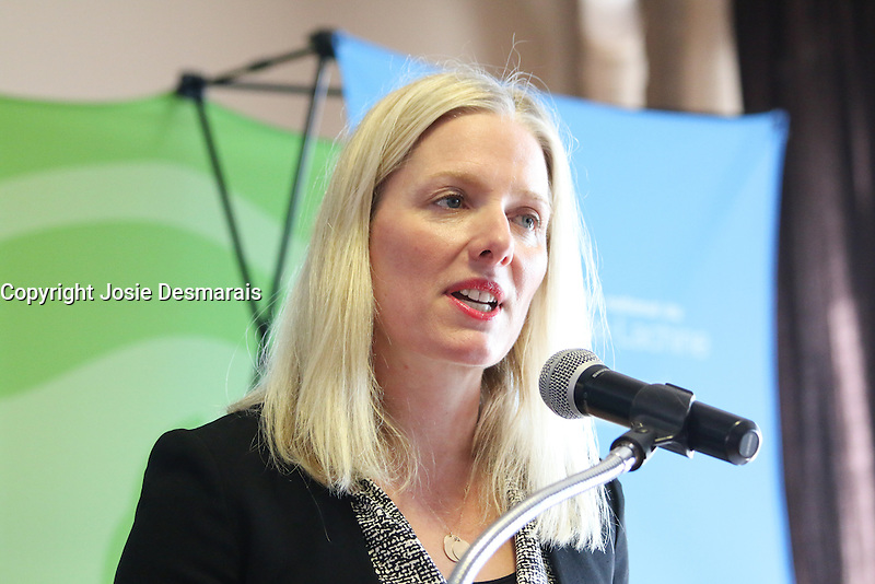 Environment and Climate Change Minister  Catherine McKenna in Montreal, March, 29, 2016.<br /> <br /> Photo : Josie Desmarais<br /> - Agence Quebec Presse