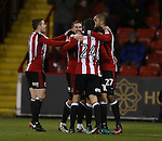 Billy Sharp of Sheffield Utd is moved after scoring the second goal during the English League One match at Bramall Lane Stadium, Sheffield. Picture date: December 26th, 2016. Pic Simon Bellis/Sportimage