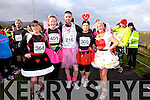 Caroline Mc Connell, Donna O'Mahony, Colin Aherne, Kerry O'Mahoney Marlyn O'Shea at the Valentines 10 mile road race in Tralee on Saturday.