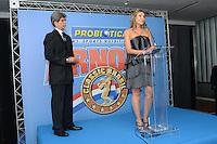 RIO DE JANEIRO, RJ, 26 JULHO 2012 - ANUNCIO DO ARNOLD CLASSIC BRASIL- Ana Paula Leal e Felipe Bonilha, organizadores do evento na cerimonia de anuncio do evento Arnold Classic Brasil que acontecera em Abril de 2013, englobando diversas modalidades esportivas, deu inicio a 14 edicao do evento Rio Sports Show que inicia amanha dia 27 no Pier Maua, nesta quINTA-feira, 26 (FOTO: MARCELO FONSECA / BRAZIL PHOTO PRESS).