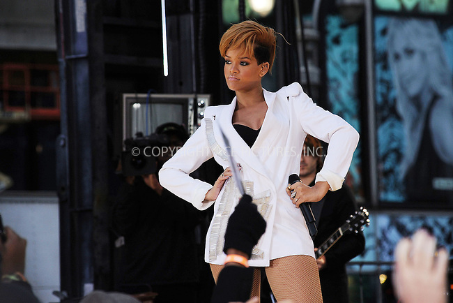 WWW.ACEPIXS.COM . . . . . ....November 24 2009, New York City....Singer Rihanna performs on ABC's 'Good Morning America' show at Military Island in Times Square on November 24, 2009 in New York City.....Please byline: KRISTIN CALLAHAN - ACEPIXS.COM.. . . . . . ..Ace Pictures, Inc:  ..tel: (212) 243 8787 or (646) 769 0430..e-mail: info@acepixs.com..web: http://www.acepixs.com