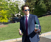 White House Communications Director Anthony Scaramucci walks into the White House in Washington, DC after giving a television interview, July 26, 2017. <br /> Credit: Chris Kleponis / CNP /MediaPunch