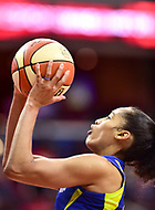 Washington, DC - August 12, 2018: Dallas Wings All-Star guard Skylar Diggins-Smith (4) goes up for a lay up during game between the Washington Mystics and the Dallas Wings at the Capital One Arena in Washington, DC. (Photo by Phil Peters/Media Images International)