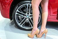 SAO PAULO, SP, 29.10.2014 - SALAO DO AUTOMOVEL -  BMW X4 M Sport 28º Salão Internacional do Automóvel de São Paulo, nesta quarta-feira,29 no Anhembi, na zona norte de São Paulo, SP. O evento acontece do dia 30 de outubro até o dia 9 de novembro. (Foto: Vanessa Carvalho / Brazil Photo Press).