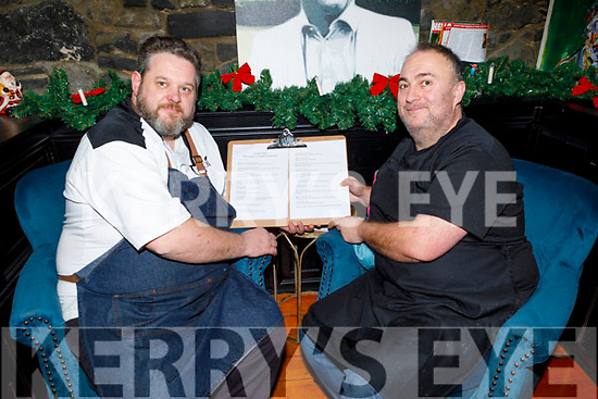 Chef Noel Keane and Stuart Lyons working hard behind the scenes at Croi on Saturday .