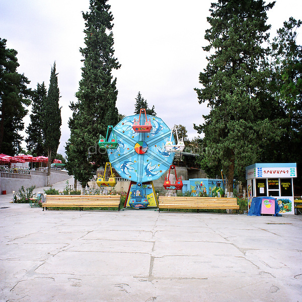 A leisure park in Stepanakert...Nagorno Karabakh, oct 2010,Stepanakert..Magali Corouge/Documentography.