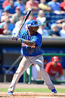 Dominican Republic shortstop Jose Reyes #7 during a Spring Training game against the Philadelphia Phillies at Bright House Field on March 5, 2013 in Clearwater, Florida.  The Dominican defeated Philadelphia 15-2.  (Mike Janes/Four Seam Images)