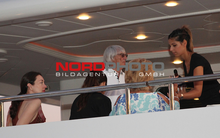 02/08/2013., Sibenik - Bernie Ecclestone and his wife Fabiano Flos and the Company entered into the port of Sibenik on the yacht Peter.<br />   Foto &not;&copy; nph / Dusko Jaramaz