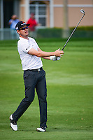 Zach Johnson (USA) watches his approach shot on 8 during round 1 of the Honda Classic, PGA National, Palm Beach Gardens, West Palm Beach, Florida, USA. 2/23/2017.<br /> Picture: Golffile | Ken Murray<br /> <br /> <br /> All photo usage must carry mandatory copyright credit (&copy; Golffile | Ken Murray)