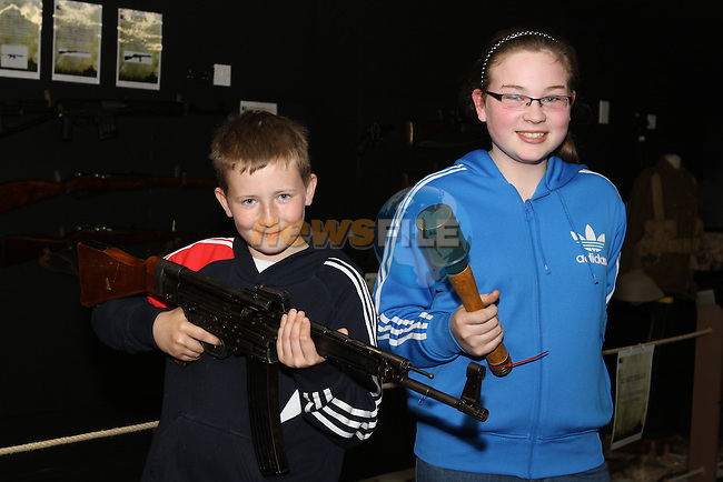 Aaron and Sarah Donnelly at the War Museum in Funtasia...(Photo Jenny Matthews/www.newsfile.ie)