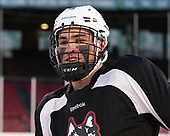 Nick Fiorentino (NU - 3) The Northeastern University Huskies practiced at Fenway on Friday, January 13, 2017, in Boston, Massachusetts.