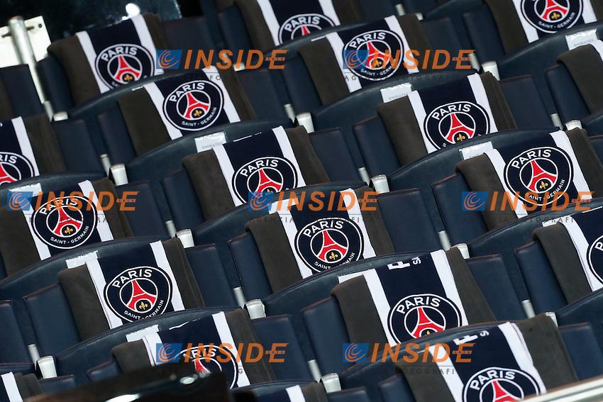 Panoramica Stadio Parc des Princes Spalti  Logo <br /> Parigi 14-02-2017 Parco dei Principi <br /> Paris Saint Germain - Barcellona Champions League 2016/2017 <br /> Foto Gwendoline Le Goff / Panoramic / Insidefoto