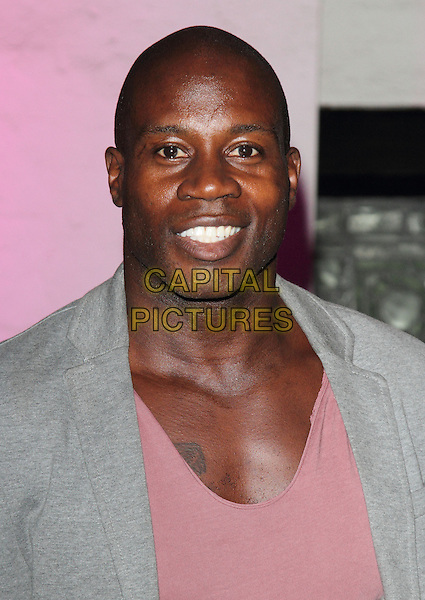 Martin Offiah<br /> The Inspiration Awards For Women 2013, Cadogan Hall, Sloane Terrace, London, England.<br /> October 2nd, 2013<br /> headshot portrait top grey gray suit jacket pink  <br /> CAP/ROS<br /> &copy;Steve Ross/Capital Pictures