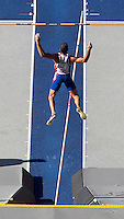 20 AUG 2009 - BERLIN, GER - Romain Barras (FRA) - Decathlon  Pole Vault - World Athletics Championships .(PHOTO (C) NIGEL FARROW)