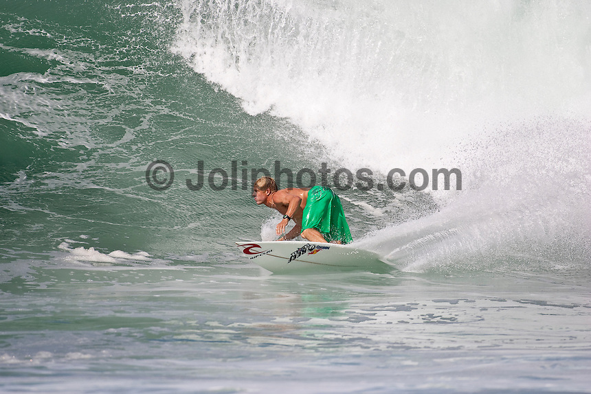Mick Fanning (AUS) surfing at Off The Wall, North Shore  Oahu, Hawaii. Photo:joliphotos.com