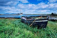 Abandoned boat, Ireland