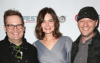 "WEST HOLLYWOOD, CA July 11- Cory Krueckeberg, Betsy Brandt, Tom Gustafson,  At 2017 Outfest Los Angeles LGBT Film Festival Screening of ""Hello Again"" at The DGA Theater, California on July 11, 2017. Credit: Faye Sadou/MediaPunch"