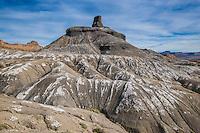 The Skeleton Rocks, the Cove near Green River, Utah White rock layers, not snow