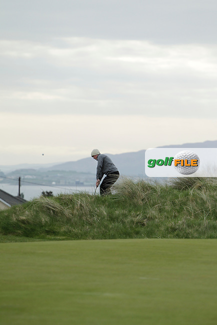 Jonathon Doherty (Ballina) during round 2 of The West of Ireland Amateur Open in Co. Sligo Golf Club on Saturday 19th April 2014.<br /> Picture:  Thos Caffrey / www.golffile.ie
