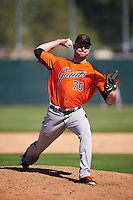 San Francisco Giants pitcher Matt Pope (70) during an Instructional League game against the Oakland Athletics on October 5, 2016 at Fitch Park in Mesa, Arizona.  (Mike Janes/Four Seam Images)