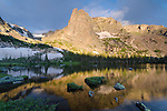 Lake Helene reflection, Rocky Mountain National Park, Colorado, USA