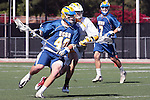Orange, CA 05/01/10 - CJ Jacobs (UCSB # 40) and Ryan Murray (ASU # 22) in action during the UC Santa Barbara-Arizona State MCLA SLC semi-final game in Wilson Field at Chapman University.  Arizona State advanced to the final by defeating UC Santa Barbara 13-9.