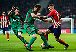 Fernando Torres (R) of Atletico de Madrid fights for the ball with Solomon Kvirkvelia of FC Lokomotiv Moscow during the UEFA Europa League 2017-18 Round of 16 (1st leg) match between Atletico de Madrid and FC Lokomotiv Moscow at Wanda Metropolitano  on March 08 2018 in Madrid, Spain. Photo by Diego Souto / Power Sport Images