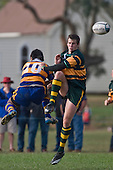 J. Araihe & B. Clark both miss the ball during the CMRFU Counties Power Premier Club Rugby game between Patumahoe & Pukekohe played at Patumahoe on April 12th, 2008..The halftime score was 10 all with Pukekohe going on to win 23 - 18.