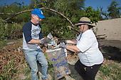 Los Angeles Councilmember Paul Kerkorian, La Gran Limpieza, Volunteers at FoLAR Friends of the LA River)  River clean-up April 17, 2016, Los Angeles River, Glendale Narrows, Los Angeles, California, USA