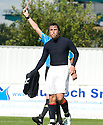 07/08/2010   Copyright  Pic : James Stewart.sct_jsp011_falkirk_v_dunfermline  .::  MARK MILLAR GETS A RED CARD FOR A CHALLENGE ON WULLIE GIBSON ::  .James Stewart Photography 19 Carronlea Drive, Falkirk. FK2 8DN      Vat Reg No. 607 6932 25.Telephone      : +44 (0)1324 570291 .Mobile              : +44 (0)7721 416997.E-mail  :  jim@jspa.co.uk.If you require further information then contact Jim Stewart on any of the numbers above.........