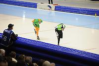 SCHAATSEN: HEERENVEEN: 26-12-2013, IJsstadion Thialf, KNSB Kwalificatie Toernooi (KKT), 5000m, Bob de Jong, Christijn Groeneveld, ©foto Martin de Jong