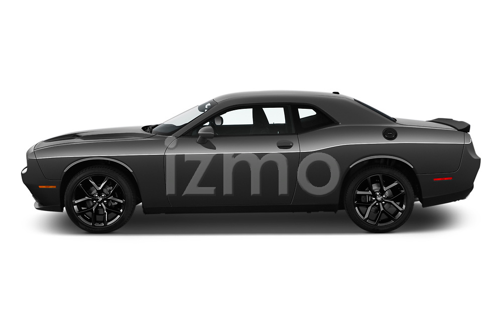 Car driver side profile view of a 2019 Dodge challenger SXT 2 Door Coupe
