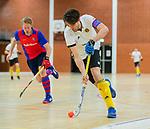 Almere - Zaalhockey  SCHC-Victoria (5-7)   . Frederik Groenland (Victoria) . TopsportCentrum Almere.    COPYRIGHT KOEN SUYK