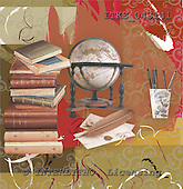Isabella, MODERN, paintings,+books++++,ITKE043141,#n# moderno, arte, illustrations, pinturas napkins ,everyday
