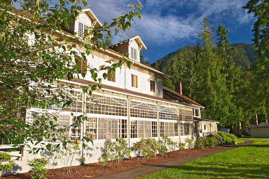 Lake Crescent Lodge, Olympic National Park, Olympic Peninsula, Clallam County, Washington, USA