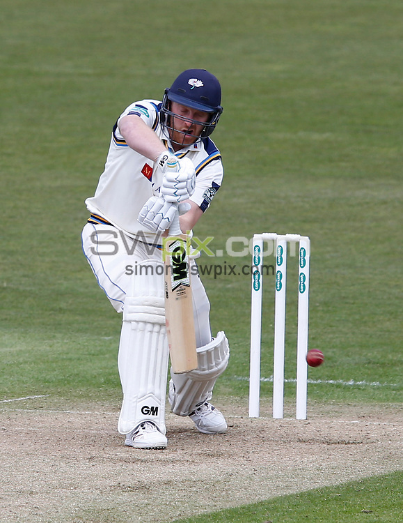 Picture by John Clifton/SWpix.com - 17/04/2016 - Cricket - Specsavers County Championship Division One - Yorkshire CCC v Hampshire CCC, Day 1 - Headingley Cricket Ground, Leeds, England - Andrew Gale of Yorkshire