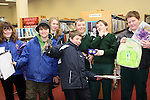 Students from Scoil Aonghusa and St. Peters NS who won Disney Gifts while attending the Jazz Workshop in Drogheda Library...Photo NEWSFILE/Jenny Matthews.(Photo credit should read Jenny Matthews/NEWSFILE)....This Picture has been sent you under the condtions enclosed by:.Newsfile Ltd..The Studio,.Millmount Abbey,.Drogheda,.Co Meath..Ireland..Tel: +353(0)41-9871240.Fax: +353(0)41-9871260.GSM: +353(0)86-2500958.email: pictures@newsfile.ie.www.newsfile.ie.FTP: 193.120.102.198.