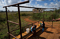 JAGUEY, CUBA - FEBRUARY 8: Cuban women wait at Jaguey train stop to go to San Antonio de los Baños on February 8, 2018 in Cuba. Ferrocarriles de Cuba, is one of the oldest railroad around world, having opened its first route in 1837 with at least 17-mile long. Now the railway probably could cover more than 2,600 miles along the Island.  (Photo by Eliana Aponte/VIEWpress)