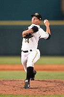 Bradenton Marauders pitcher Jhondaniel Medina (34) delivers a pitch during a game against the Jupiter Hammerheads on June 25, 2014 at McKechnie Field in Bradenton, Florida.  Bradenton defeated Jupiter 11-0.  (Mike Janes/Four Seam Images)