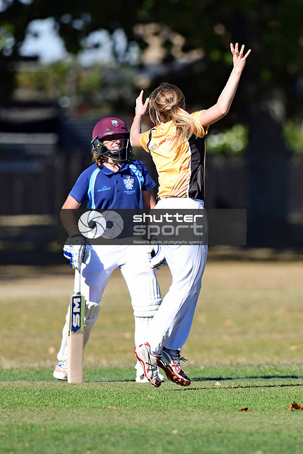 NELSON, NEW ZEALAND March 2: Div3 Cricket Nelson College  v Wakatu Ladies, Victory Square, Nelson, March 2 2019, Nelson, New Zealand (Photos by Barry Whitnall/Shuttersport Limited)