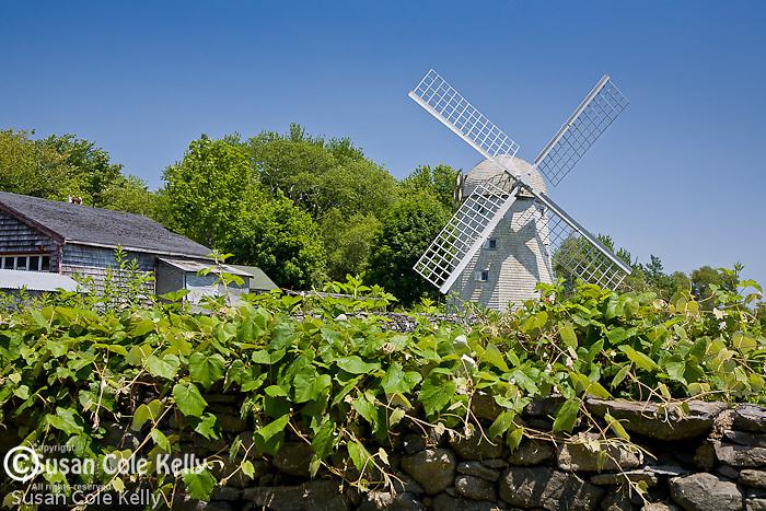 Jamestown Windmill, 1787. Jamestown, Narragansett Bay, RI, USA