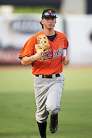 Josh Hatcher (13) of Lee County High School in Albany, Georgia playing for the Baltimore Orioles scout team during the East Coast Pro Showcase on August 3, 2016 at George M. Steinbrenner Field in Tampa, Florida.  (Mike Janes/Four Seam Images)