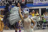 SAO PAULO, SP, 09 FEVEREIRO 2013 - CARNAVAL SP - NENE DE VILA MATILDE - Adriana Bombom da escola de samba Nenê de Vila Matilde durante desfile no segundo dia do Grupo Especial no Sambódromo do Anhembi na região norte da capital paulista, nesta sabado, 09. FOTO: LEVI BIANCO - BRAZIL PHOTO PRESS