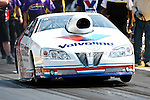 Ron Krisher (8) driver for the Valvoline team makes a pass during the O'Reilly Auto Parts Spring Nationals at the Royal Purple Raceway in Baytown,Texas.