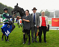 Connections of Ocean Gale in the winners enclosure after winning The Bathwick Tyres Salisbury Handicap (Class 6), during Afternoon Racing at Salisbury Racecourse on 7th August 2017