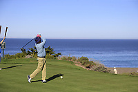 Bill Murray tees off the 4th tee at Spyglass Hill during Thursday's Round 1 of the 2018 AT&amp;T Pebble Beach Pro-Am, held over 3 courses Pebble Beach, Spyglass Hill and Monterey, California, USA. 8th February 2018.<br /> Picture: Eoin Clarke | Golffile<br /> <br /> <br /> All photos usage must carry mandatory copyright credit (&copy; Golffile | Eoin Clarke)