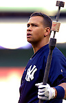 16 June 2006: Alex Rodriguez, third baseman for the New York Yankees, awaits his turn in the batting cage prior to a game against the Washington Nationals at RFK Stadium, in Washington, DC. The Yankees defeated the Nationals 7-5 in the first meeting of the two franchises...Mandatory Photo Credit: Ed Wolfstein Photo...