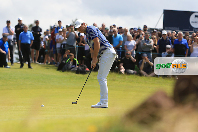Rory McIlroy (NIR) on the 5th during Round 4 of the Aberdeen Standard Investments Scottish Open 2019 at The Renaissance Club, North Berwick, Scotland on Sunday 14th July 2019.<br /> Picture:  Thos Caffrey / Golffile<br /> <br /> All photos usage must carry mandatory copyright credit (© Golffile   Thos Caffrey)