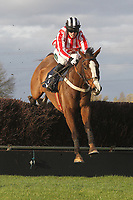 Rif ridden by Killian Moore in jumping action during the TurfTV Novices Handicap Chase